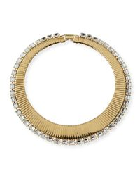 R.j. Graziano - Metallic Collar Necklace With Crystals - Lyst