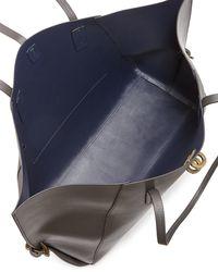 Zac Zac Posen | Gray Eartha Leather Shopper Tote Bag | Lyst