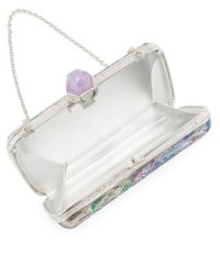 Judith Leiber Couture - Multicolor Kuta Crystal Rectangular Evening Clutch Bag - Lyst