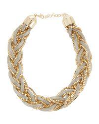 Neiman Marcus - White Braided Mesh Chain Necklace - Lyst