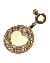 Pasquale Bruni   Metallic 18k Diamond & Topaz Round Heart Charm   Lyst