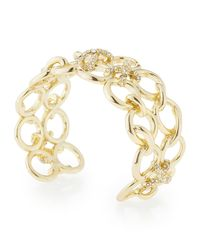 Alexis Bittar - Metallic Crystal Bound Link Cuff Bracelet - Lyst