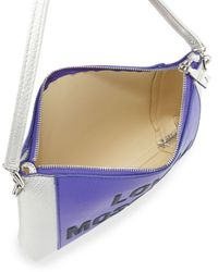 Love Moschino - Purple Pvc/saffiano Shoulder Bag - Lyst