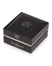 Tateossian - Metallic Woven Leather-mix Bracelet for Men - Lyst