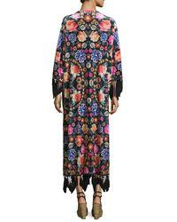 MINKPINK - Multicolor 3/4 Sleeve Floral Print Kimono - Lyst