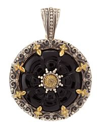 Konstantino | Multicolor Carved Onyx Pendant | Lyst