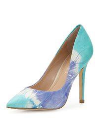 Charles by Charles David - Blue Pact Tie-dye Leather Pointed-toe Pump - Lyst