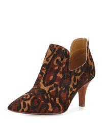 Neiman Marcus - Brown Japhet Leopard-print Pointed-toe Bootie - Lyst