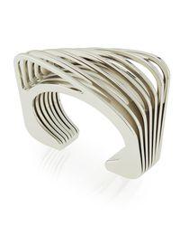 Vita Fede - Metallic Futturo Segmented Small Silver Cuff Bracelet - Lyst