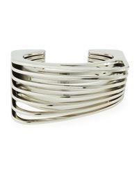 Vita Fede | Metallic Futturo Segmented Small Silver Cuff Bracelet | Lyst