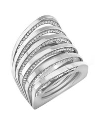 Vita Fede - White Futturo Crystal Cuff Bracelet - Lyst