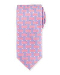 Peter Millar | Pink Geometric Print Silk Tie for Men | Lyst