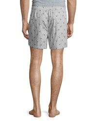 Psycho Bunny | Gray Woven Lounge Boxer Shorts for Men | Lyst