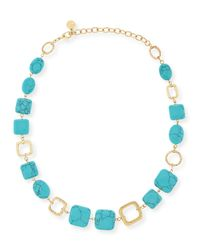 R.j. Graziano - Blue Turquoise-hue Station Necklace - Lyst