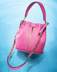Elizabeth and James - Pink Cynnie Quilted Bucket Bag - Lyst