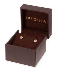 Ippolita - Metallic 18k Lollipop Mini Composite Ruby & Diamond Stud Earrings - Lyst