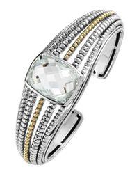 Lagos | Metallic Prism White Topaz Cuff Bracelet | Lyst