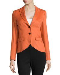 ESCADA | Orange Two-button Cashmere Blazer | Lyst