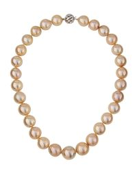Belpearl | Multicolor 14k Graduated Cream Freshwater Pearl Necklace | Lyst