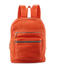 Ash | Orange Danica Large Perforated Leather Backpack | Lyst