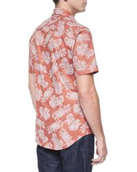 Bogosse - Pink Floral Paisley-print Short-sleeve Shirt for Men - Lyst