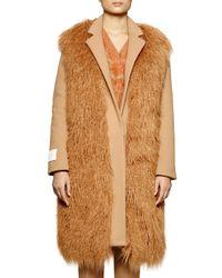 Stella McCartney | Natural Long Sleeve Wool-blend Coat | Lyst
