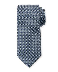 Neiman Marcus - Multicolor Circle Neat Silk Tie for Men - Lyst