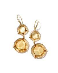 Ippolita | Metallic Gemma Snowman 18k Citrine Double-drop Earrings | Lyst