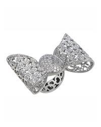 Pasquale Bruni | Metallic 18k Pave Diamond Bow Ring | Lyst
