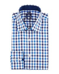 English Laundry | White Check Cotton Dress Shirt for Men | Lyst