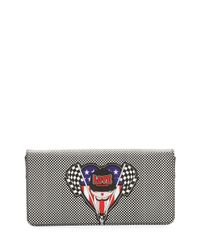Love Moschino - Black Racing Flags Faux-leather Wallet-on-a-chain - Lyst