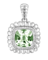 John Hardy - Batu Bedeg Large Green Amethyst & Diamond Pendant Enhancer - Lyst