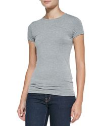 Neiman Marcus | Gray Soft Touch Marrow High-low Top | Lyst