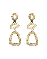 Armenta - Metallic Old World Free-form Triple-drop Earrings - Lyst