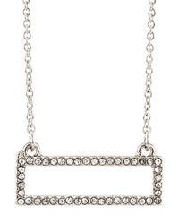 Lydell NYC | Multicolor Pave Crystal Rectangle Pendant Necklace | Lyst