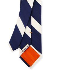 Peter Millar | Blue Striped Silk Tie for Men | Lyst