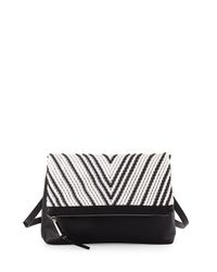 French Connection | Black Charlie Bicolor Crossbody Bag | Lyst