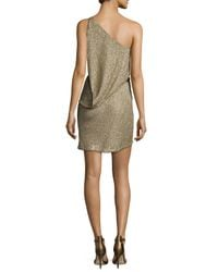 Kaufman Franco - Multicolor One-shoulder Linear Crystal Bugle Dress - Lyst