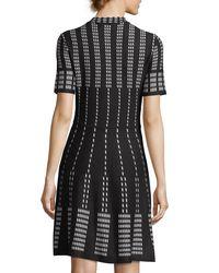 Cece by Cynthia Steffe - Black Short-sleeve Jacquard Sweaterdress - Lyst