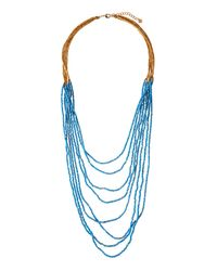 Nakamol | Blue Beaded Multi-strand Czech Crystal Necklace | Lyst