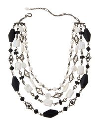 Stephen Dweck | Metallic Verona Agate And Pearl Choker Necklace | Lyst