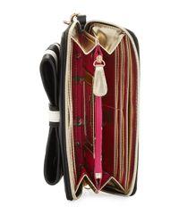 Betsey Johnson - Black 1 2 3 Oversized Wallet - Lyst