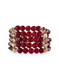 Nakamol | Red Multi-strand Beaded Cuff Bracelet | Lyst