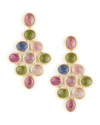 Marco Bicego   Multicolor Siviglia 18k Large Sapphire Chandelier Earrings   Lyst