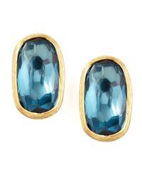Marco Bicego | Murano 18k London Blue Topaz Stud Earrings | Lyst