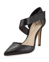 Vince Camuto   Black Carlotte Pointed-toe Leather Pump   Lyst