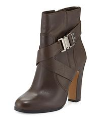 Vince Camuto | Gray Connolly Buckle Leather Bootie | Lyst