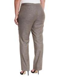 Lafayette 148 New York | Gray Barrow Loose-fit Pants | Lyst