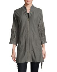 XCVI | Gray Eloisa Crochet-trim Jacket | Lyst