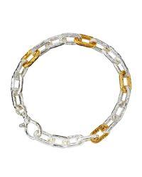 Gurhan | Metallic Two-tone Oval-link Chain Bracelet | Lyst